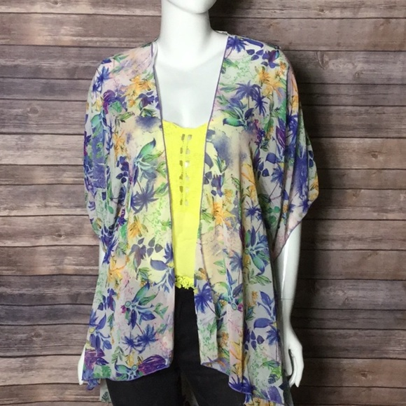 6fe7cd60c emory park Jackets & Coats | Tropical Palm Tree Kimono Cardigan S L ...